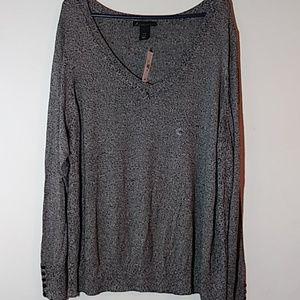 New Lane Bryant Gray Sweater.